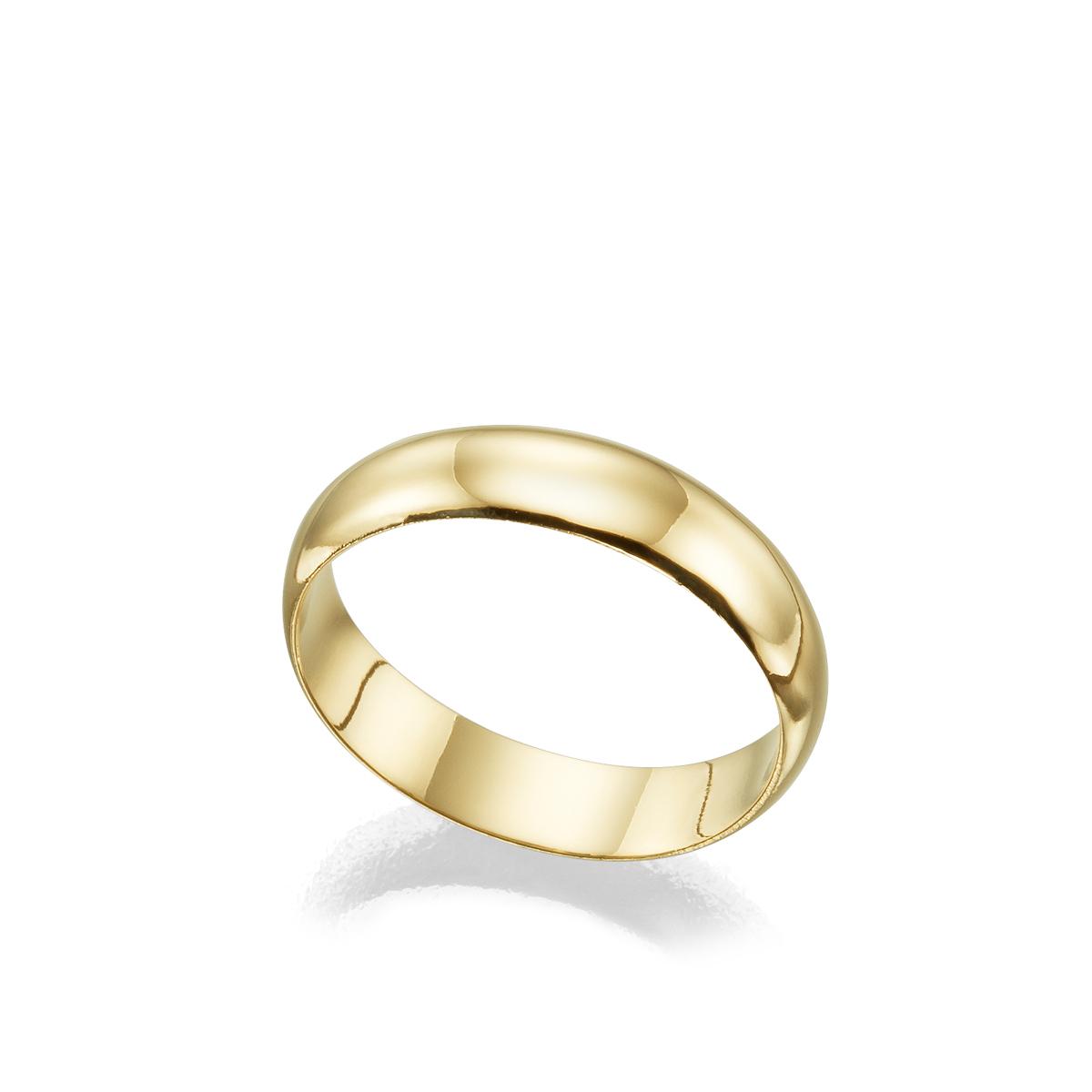 """טבעת נישואין מעוגלת רוחב 5 מ""""מ"""