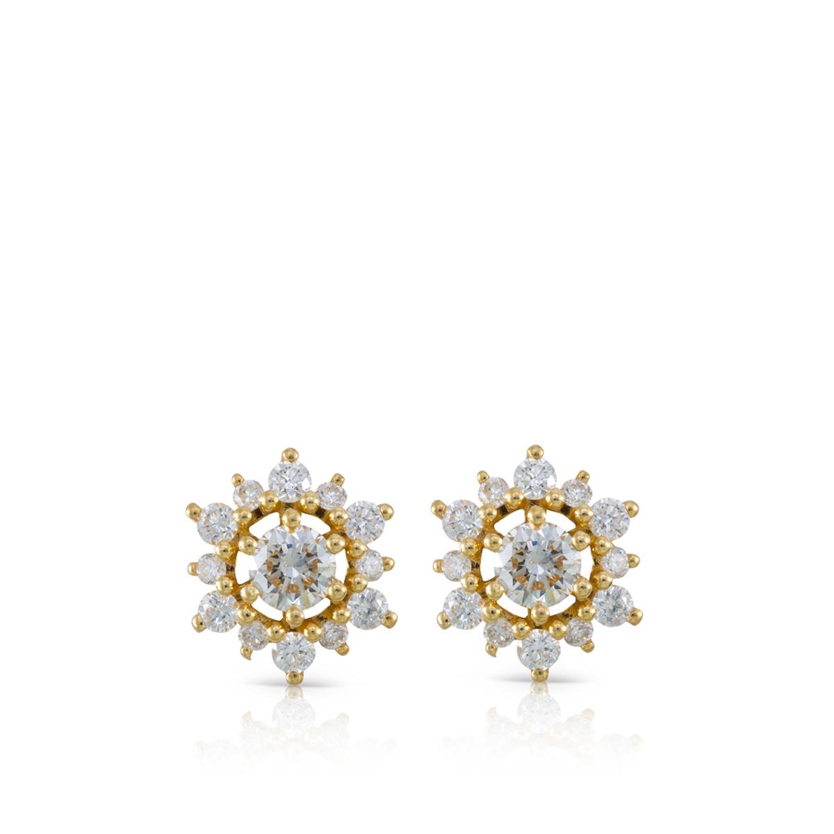 עגילי יהלומים צמודים מיוחדים