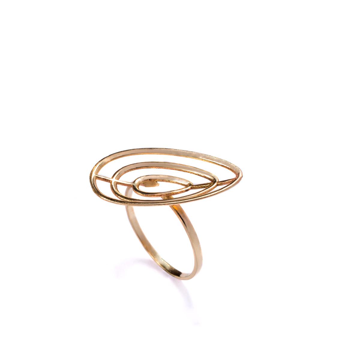 טבעת זהב בעיצוב מנימליסטי מודרני