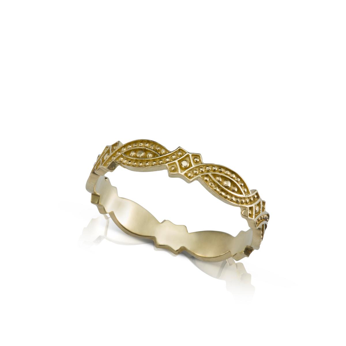 טבעת נישואין בסגנון וינטאג'
