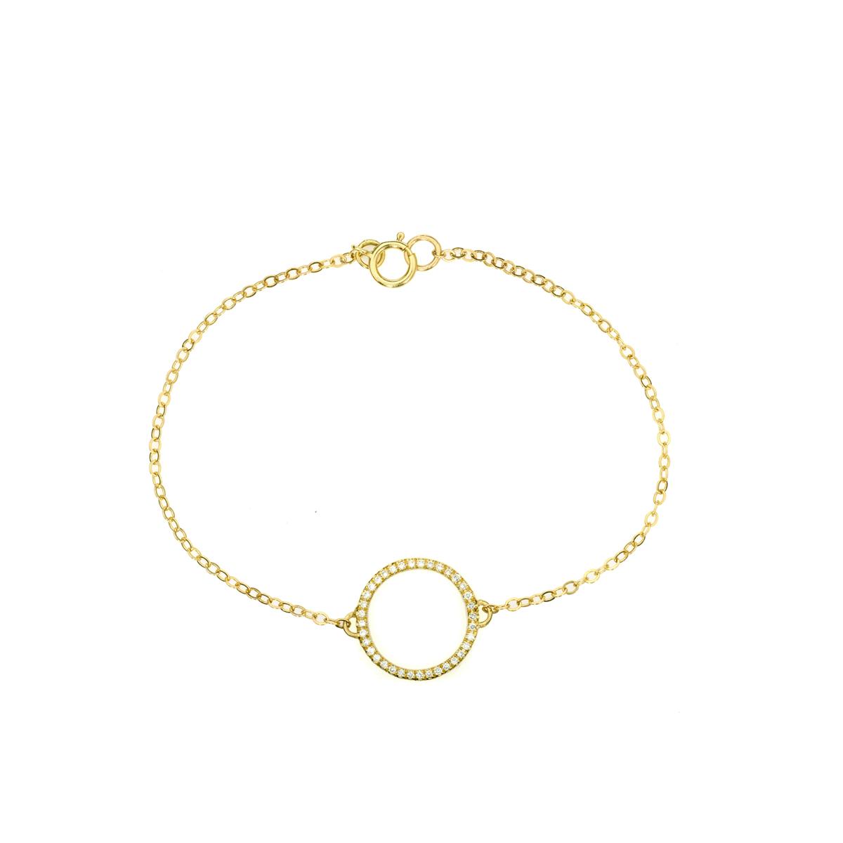 צמיד עיגול זהב משובץ יהלומים