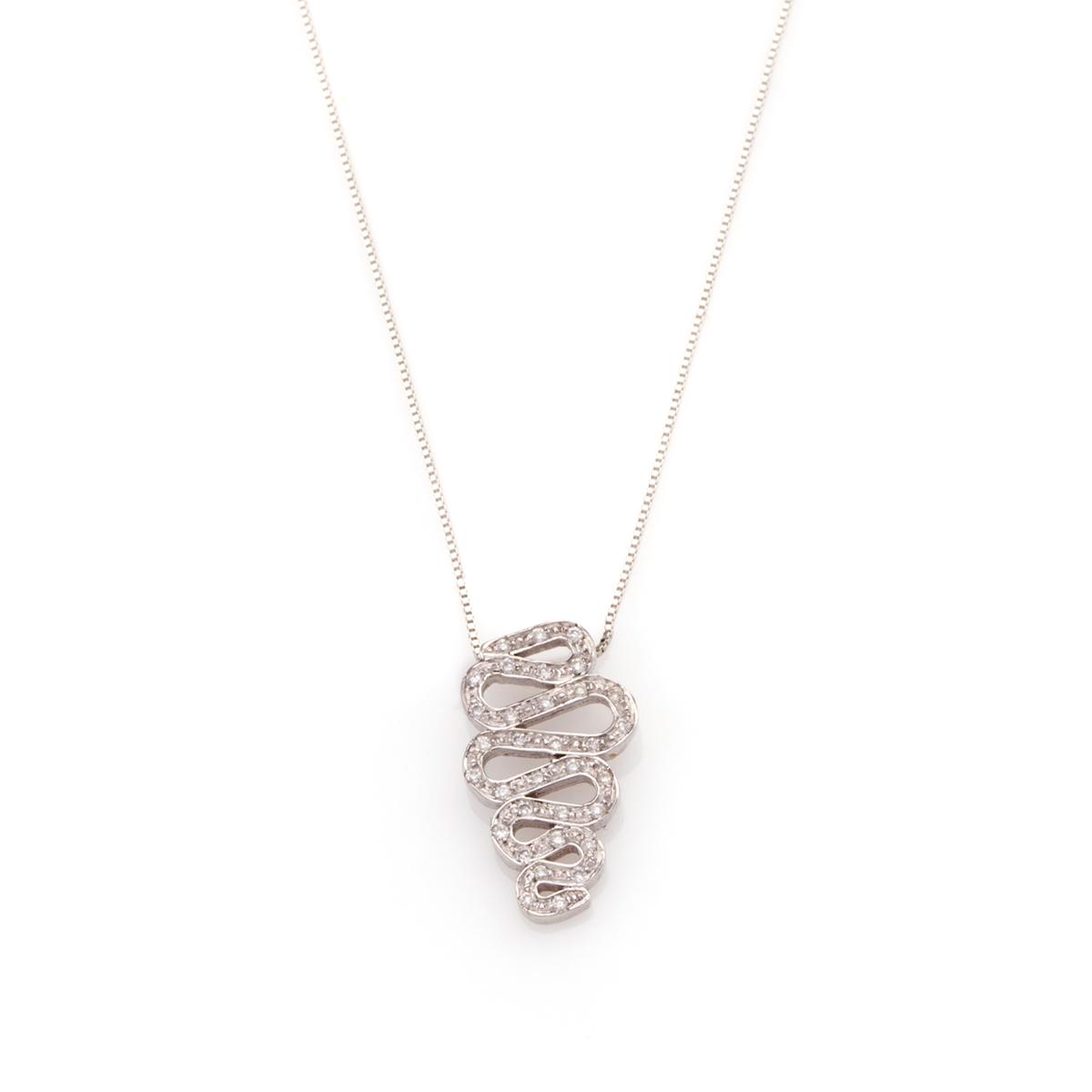 שרשרת זהב עם תליון יהלומים מפותל