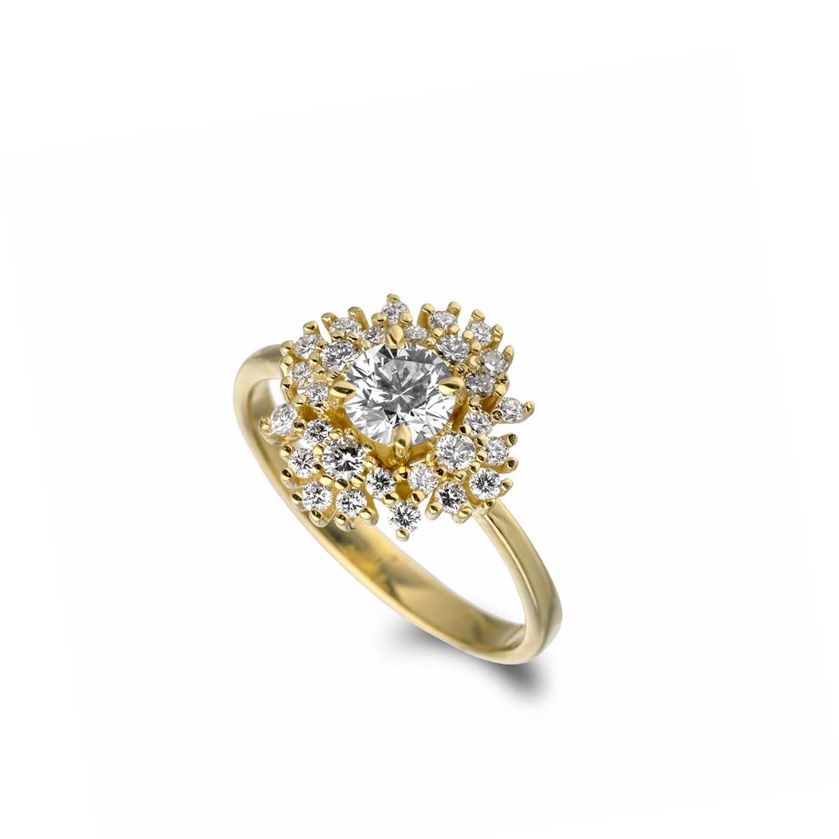 טבעת יהלומים  מרשימה ומיוחדת