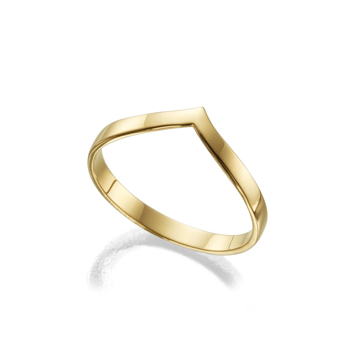 טבעת זהב בצורת חץ