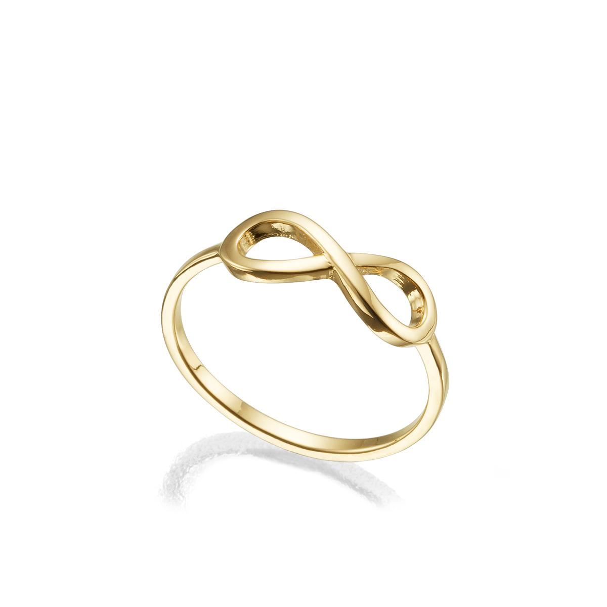 טבעת זהב אינפינטי