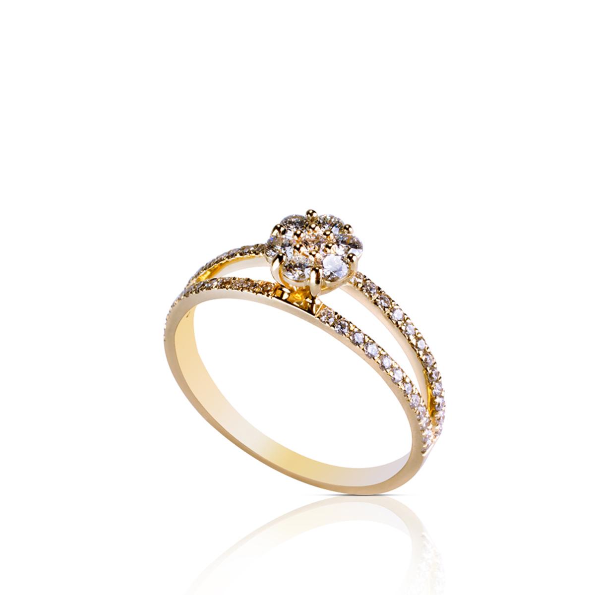 טבעת זהב ויהלומים, טבעת אירוסין