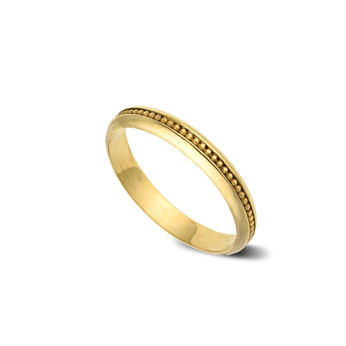 טבעת נישואין מעוגלת מיוחדת