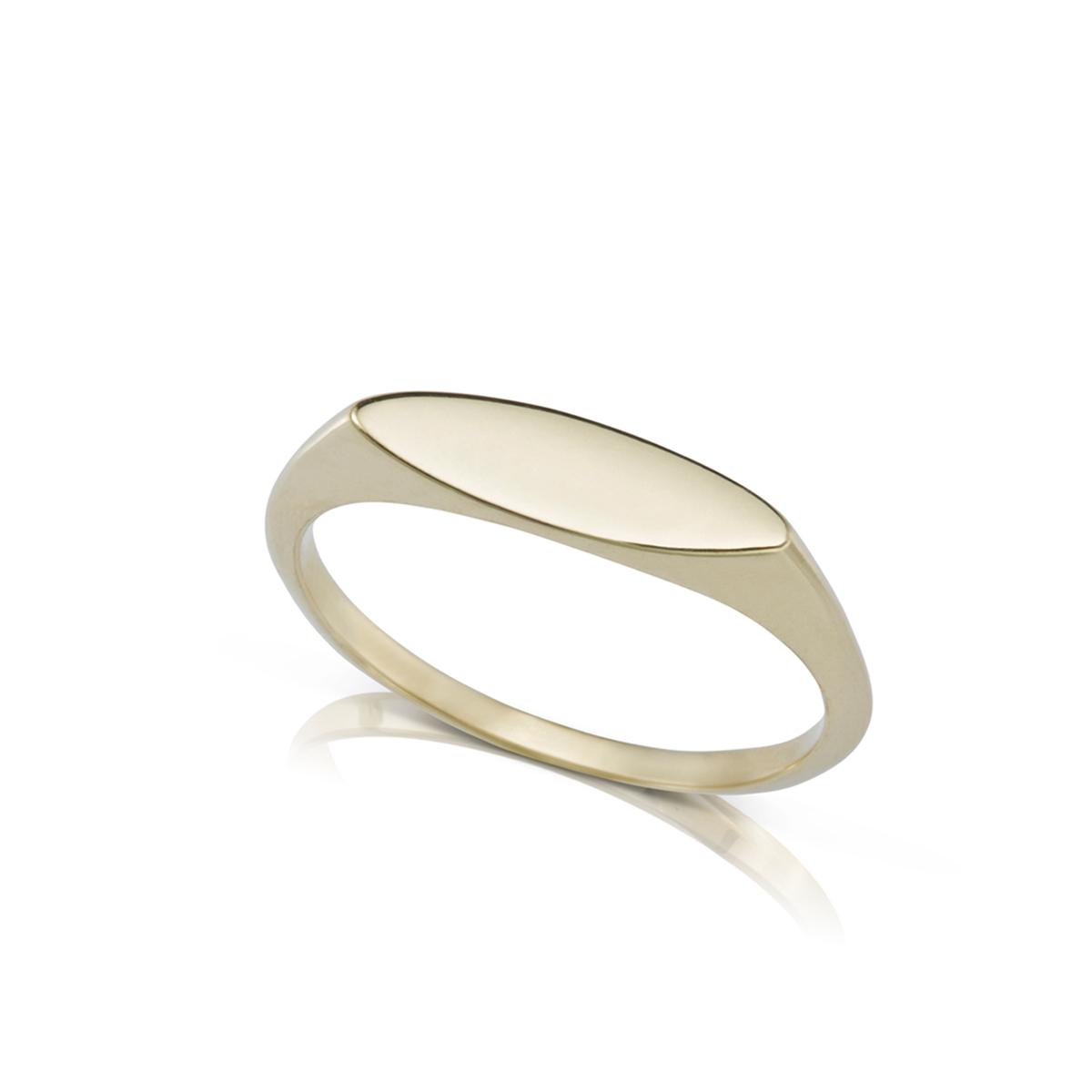 טבעת חותם צרה