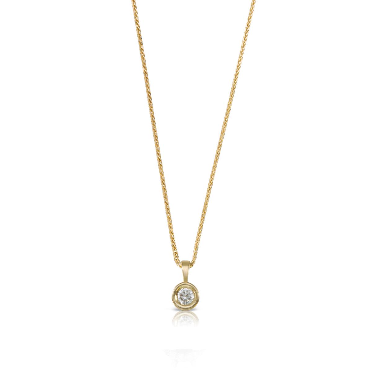 שרשרת יהלום קלאסית, תליון מסגרת זהב