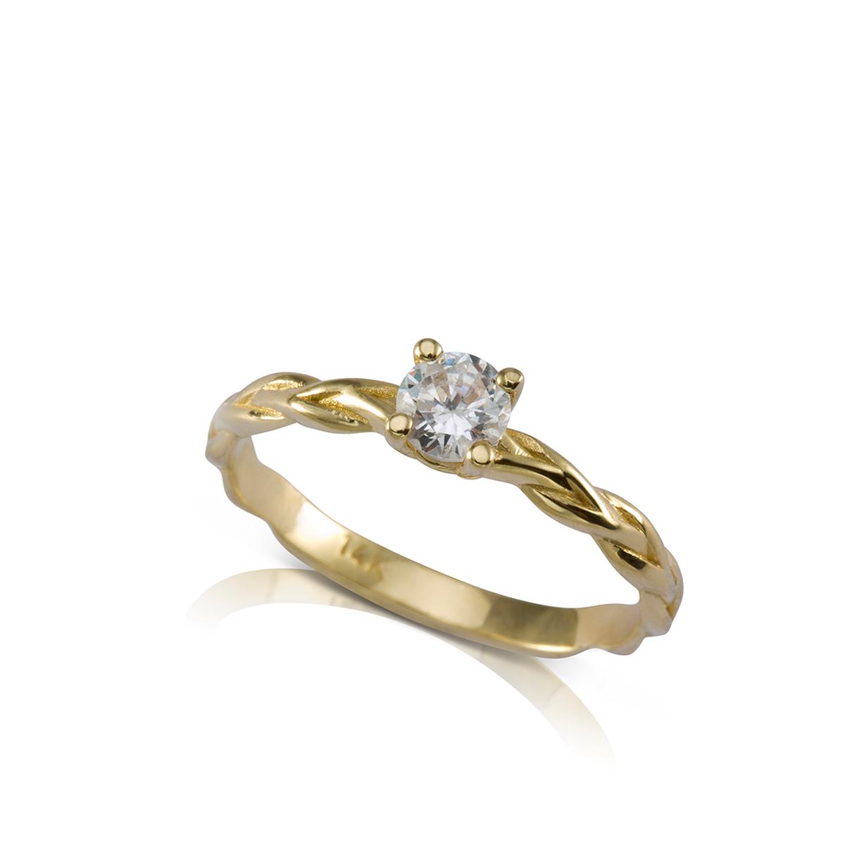 טבעת אירוסין צמה