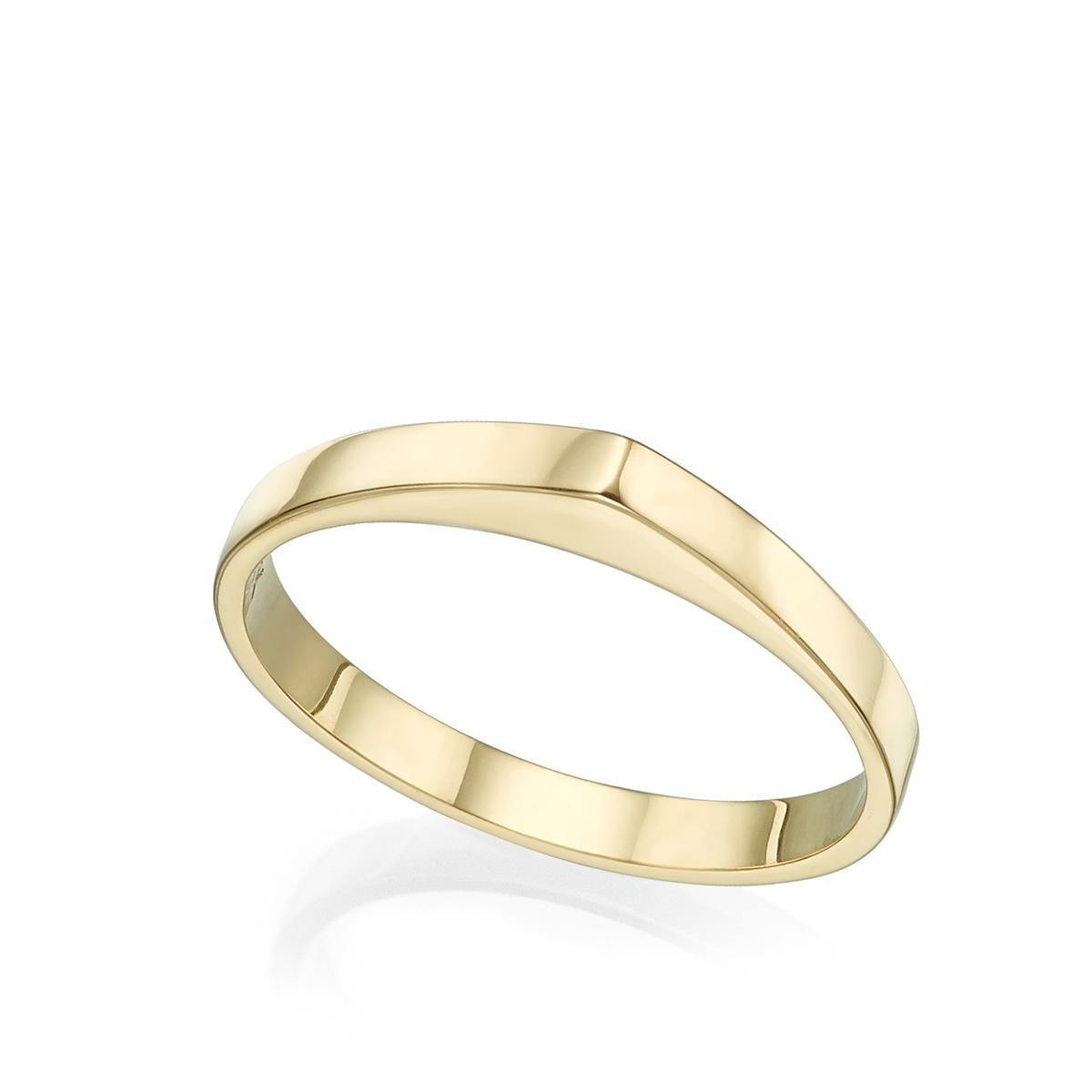 טבעת זהב טיפה