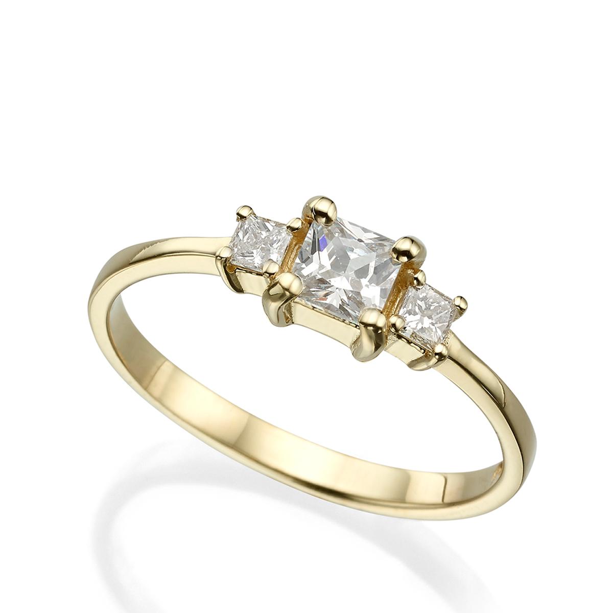 טבעת יהלומים בחיתוך פרינסס