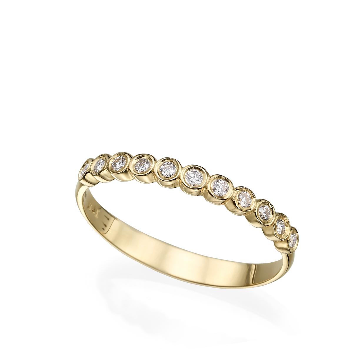 טבעת יהלומים בשיבוץ כוסות