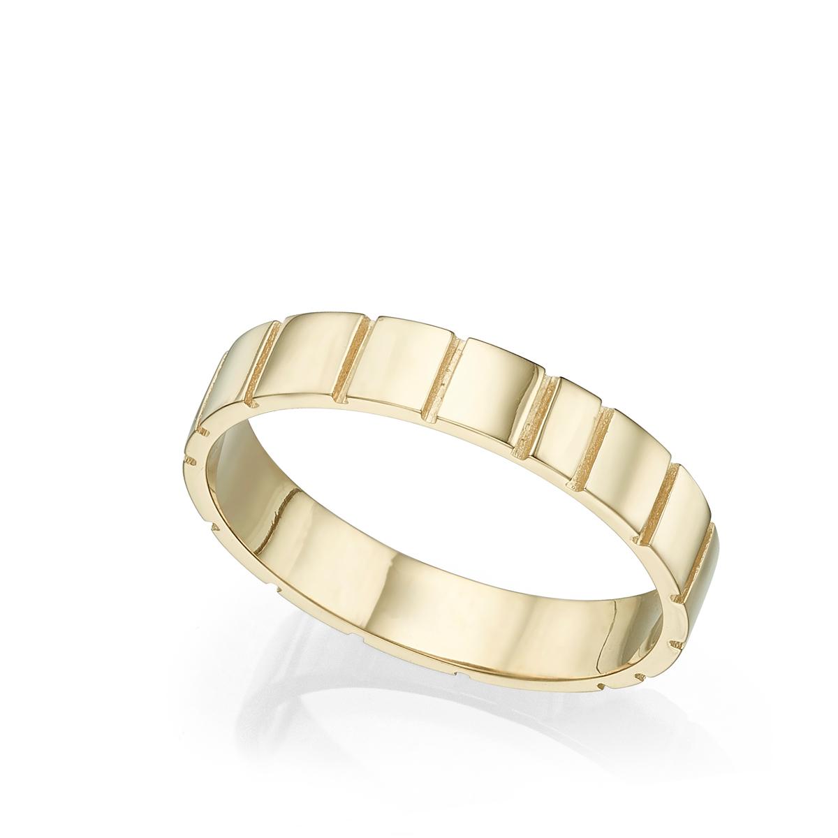 טבעת נישואין מיוחדת עם חריצים
