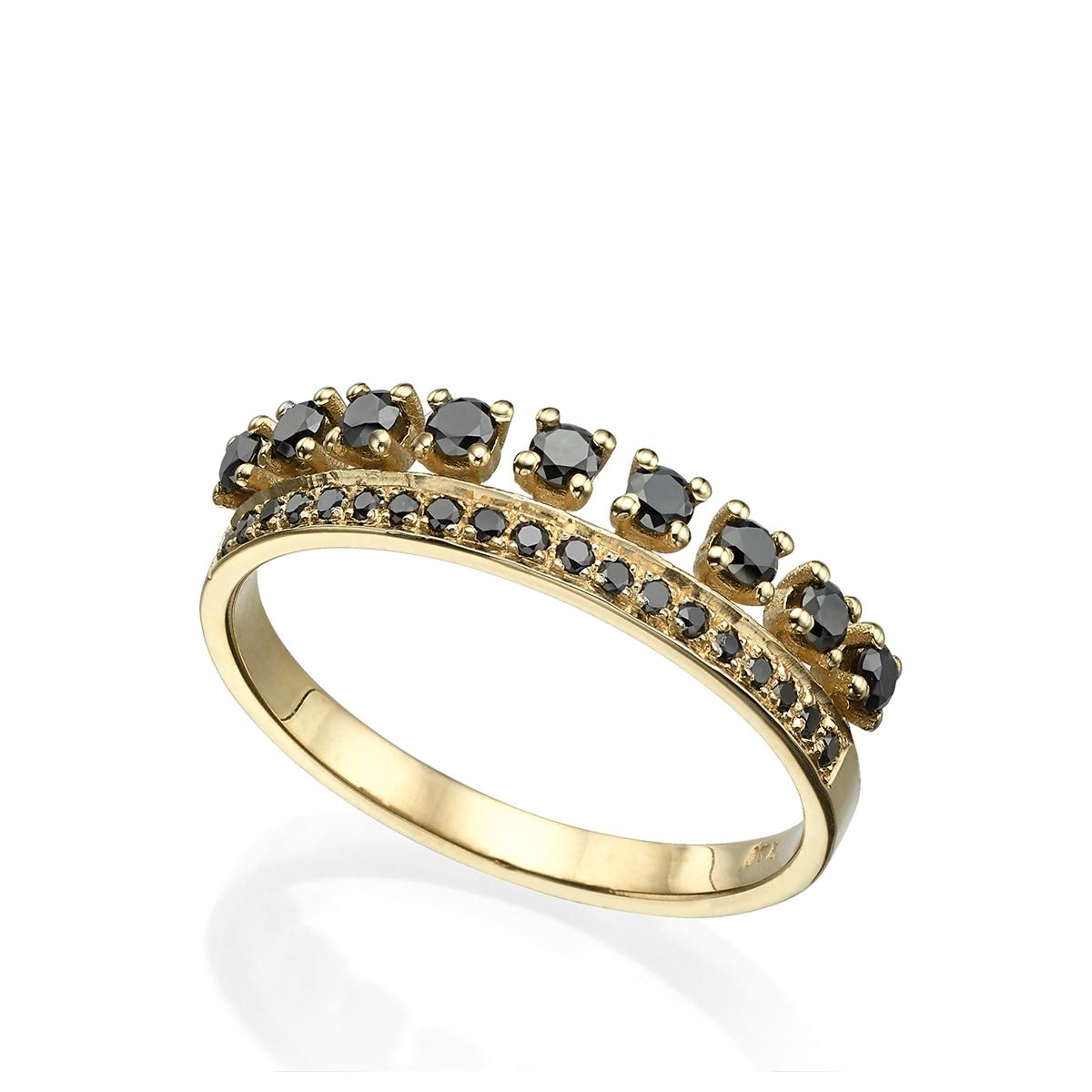 טבעת יהלומים שחורים מיוחדת