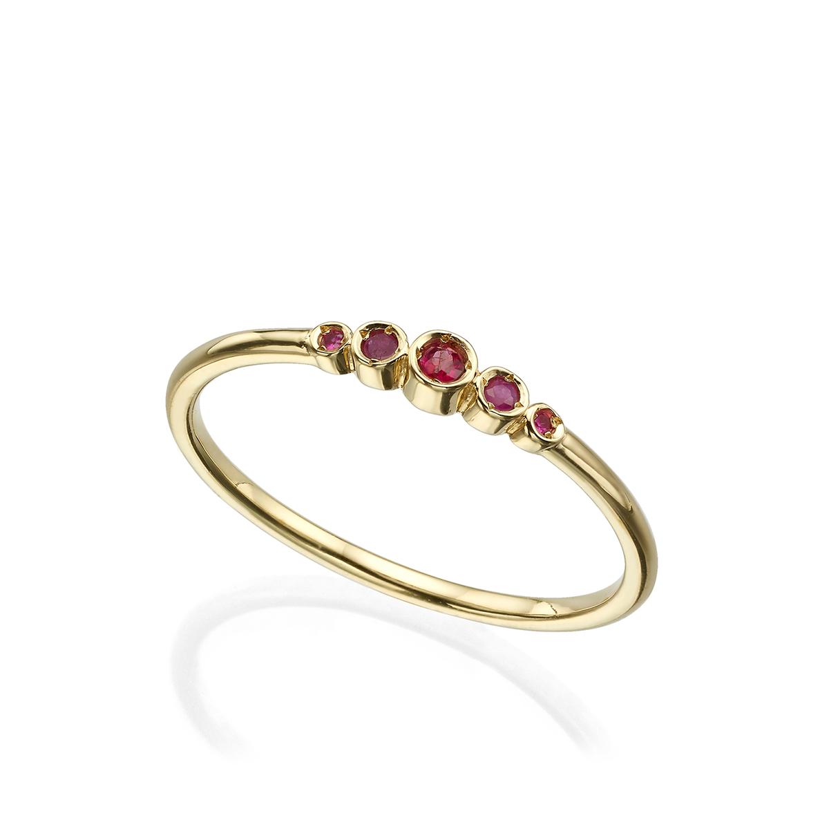 טבעת רובי עדינה