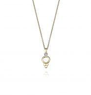 שרשרת זהב בסגנון הודי משובצת יהלום