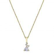 שרשרת זהב עם תליון משובץ יהלום