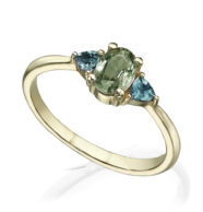 טבעת אירוסין מושבצת ספיר