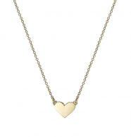 שרשרת זהב עם תליון לב