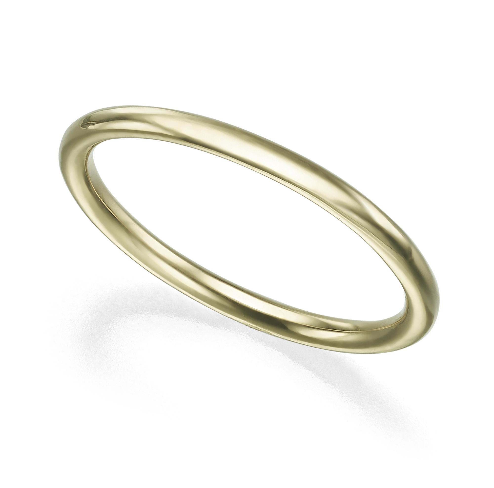 טבעת זהב עגולה עבה