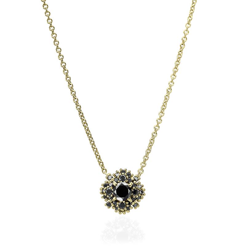 שרשרת יהלומים שחורים מרשימה ומיוחדת קטנה